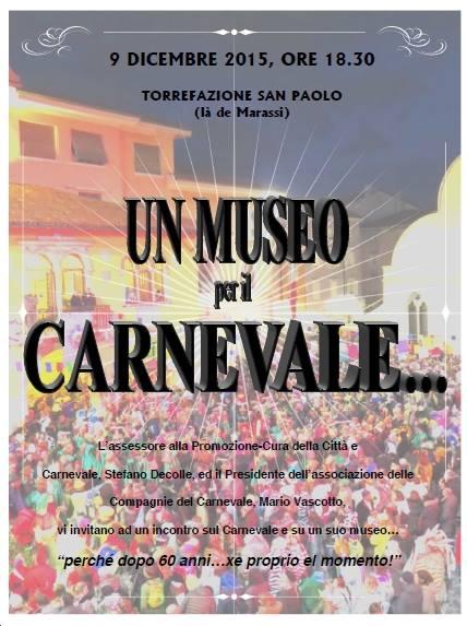Invito museo per il carnevale